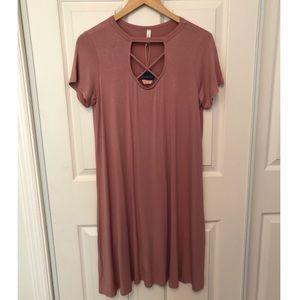 Pink Blush cotton dress NWT